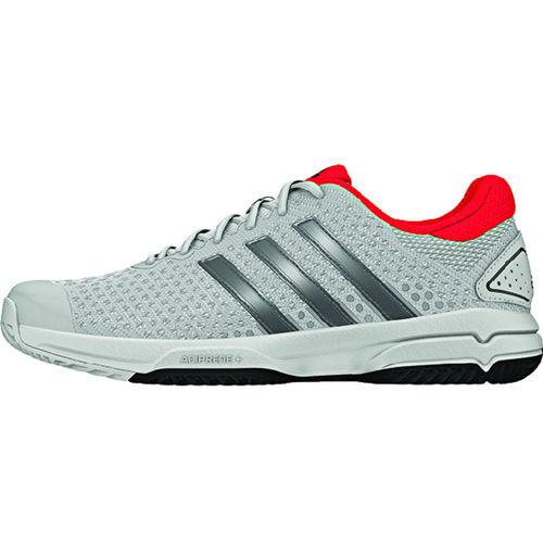 adidas Barricade Team 4 Junior Tennis Shoe - White