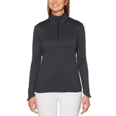 Long Sleeve Fleece Heather Quarter Zip Pull Over
