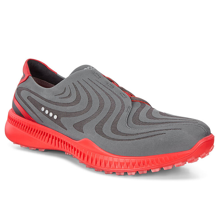 ECCO S-Drive Men's Golf Shoe - Charcoal/Red