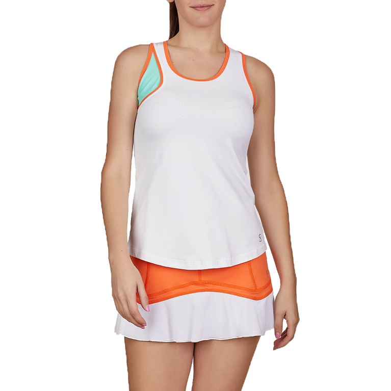 Love at First Serve Collection: Sleeveless High Neck Mesh Tank Top