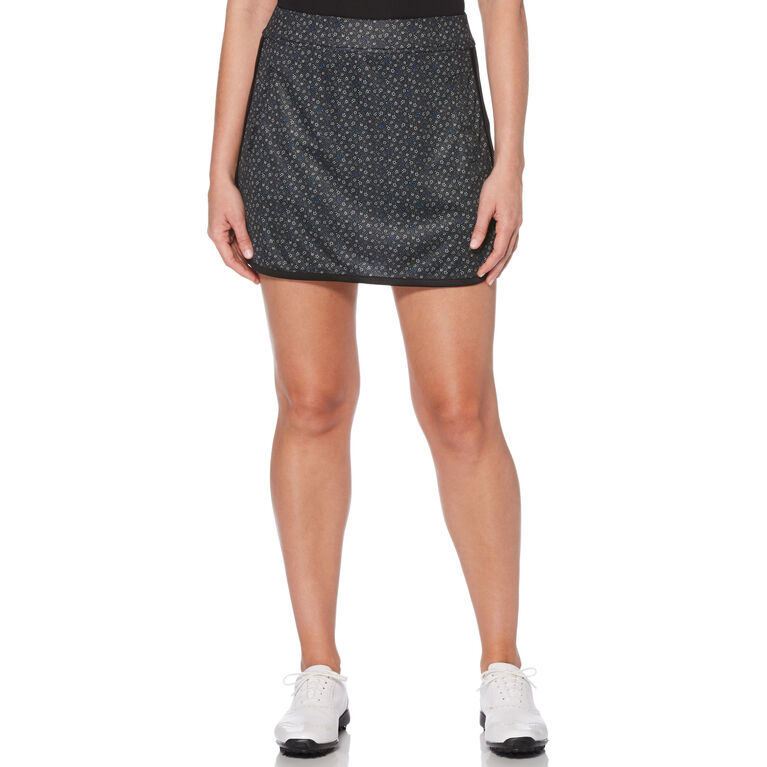 PGA TOUR Black and Blues Collection: Ditsy Floral Print Skort