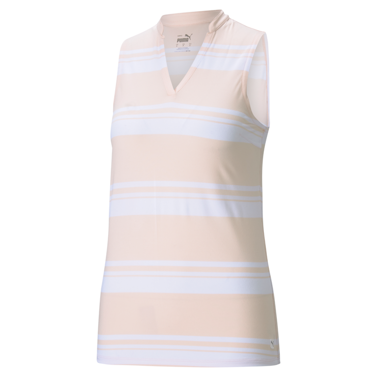 Cloudspun Valley Stripe Sleeveless Polo Shirt
