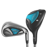 Callaway Rogue X 5, 6, 7-Hybrid 8-PW, AW Women's Combo Set w/ Graphite Shafts