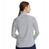 Alternate View 5 of Airflow Striped Long Sleeve Quarter-Zip Pull Over