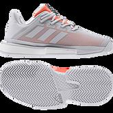 Alternate View 9 of Solematch Bounce Women's Tennis Shoe - Grey/Orange