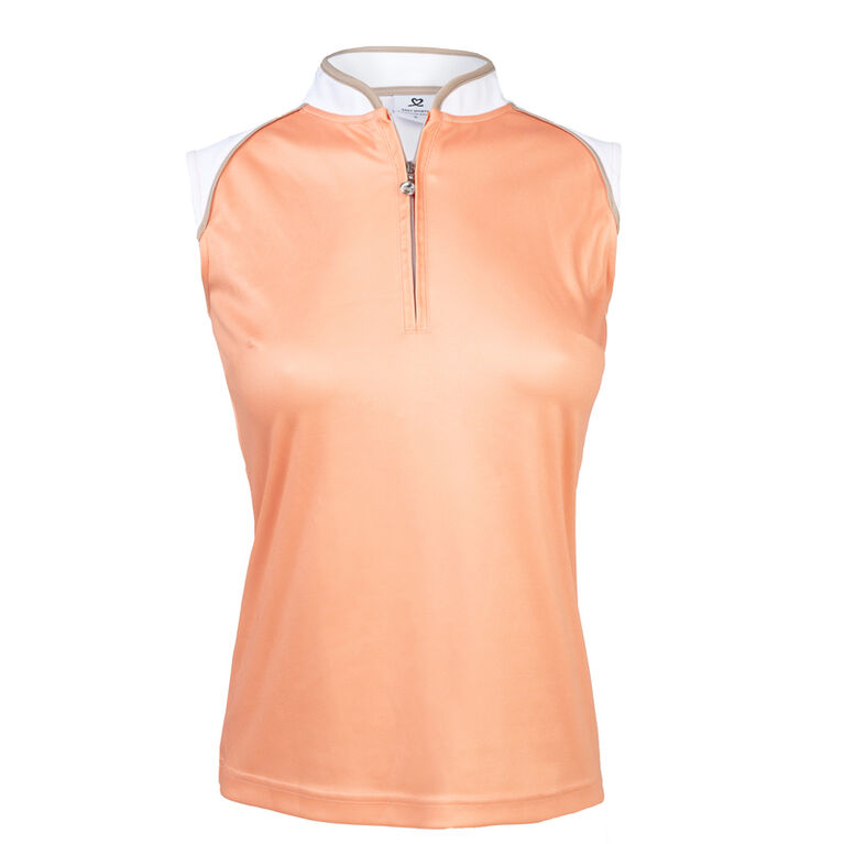 Coral Group: Megan Blossom Sleeveless Polo