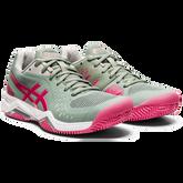 Alternate View 3 of Gel Challenger 12 Clay Women's Tennis Shoes - Grey/Pink