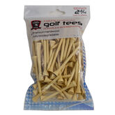 Golf Gifts & Gallery 2 3/4 inch Hardwood Golf Tees in package