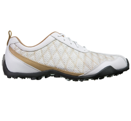 FootJoy Superlites Women's Golf Shoe - White/Tan
