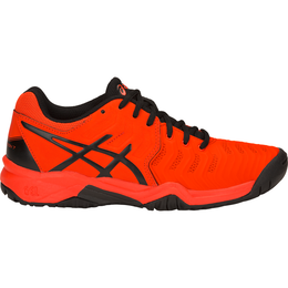 GEL-Resolution 7 GS Boy's Tennis Shoe - Black/Orange
