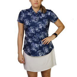 Floral Print Short Sleeve Polo Shirt
