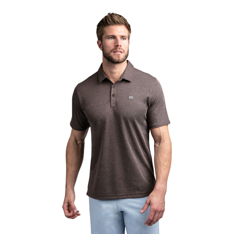 Hook or Crook Heathered Short Sleeve Polo