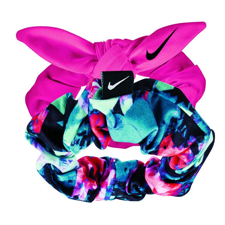 Nike Printed Gathered Hair Ties - 2 Pack