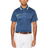 PGA TOUR Diagonal Print Short Sleeve Polo