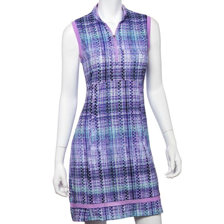 Club Med Group: Gradated Plaid Print Dress