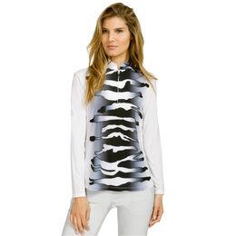 Sunsense - Long Sleeve Zebra Print Quarter Zip