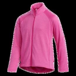 Girls Long Sleeve Full Zip  Heathered Jacket