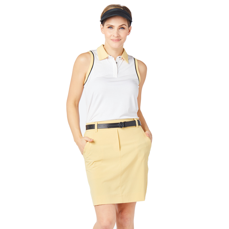 Biltmore Collection: Sleeveless Piped Rib Trim Top