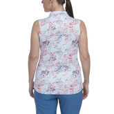 Alternate View 1 of Hibiscus Group: Sleeveless Floral Dot Print Polo