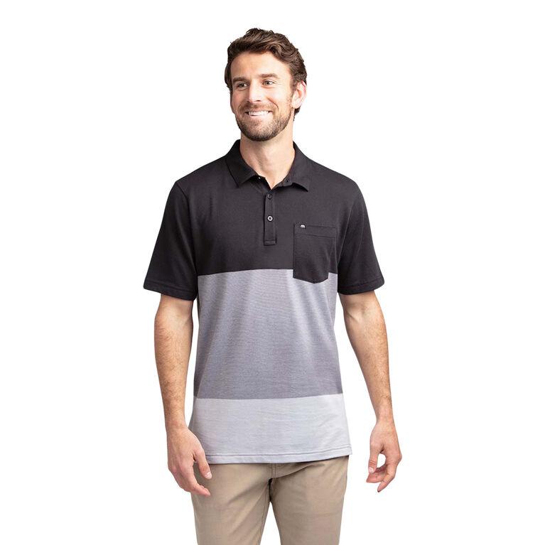 Caddy Daddy Colorblock Stripe Pocket Polo