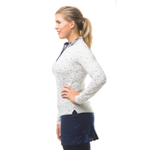 Alternate View 1 of Martini Time Mock Quarter Zip Pull Over Top