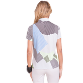 Alternate View 1 of Apollo Collection: Short Sleeve Geo Print Top