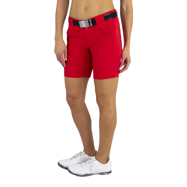 Jofit White Belted Golf Short