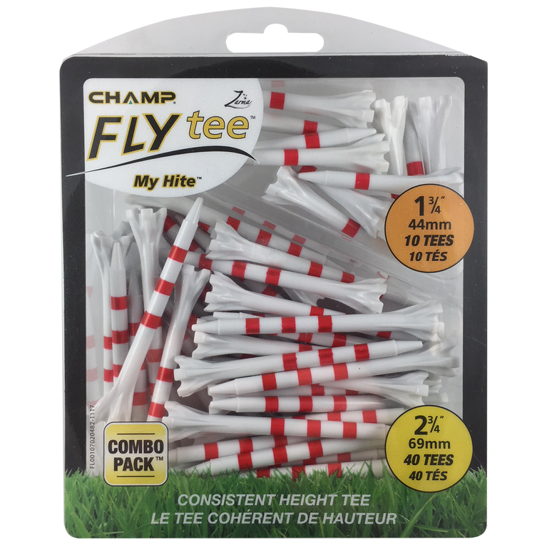 "Champ Zarma FLYtee MyHite Red Tee Combo Pack - 1.5""-2.75"""