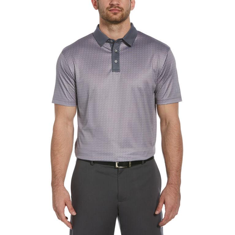 Mini Clubs Print Short Sleeve Golf Polo Shirt