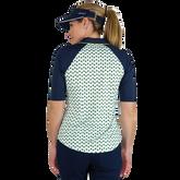 Alternate View 3 of Limonata Collection: Short Sleeve Dot Print Quarter Zip Polo Shirt