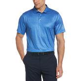 Allover Textured Print Short Sleeve Golf Polo Shirt