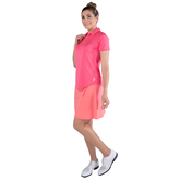Alternate View 5 of Pink Lady Collection: Short Sleeve Striped Raglan Golf Polo