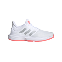 Adidas Gamecourt Women's Tennis Shoe - White/Pink
