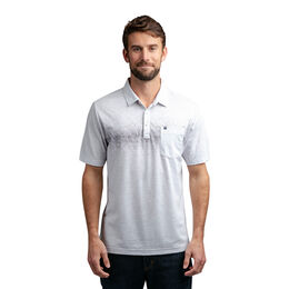 Not An Invitation Short Sleeve Faded Stripe Pocket Polo