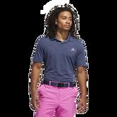 Mesh Broken-Stripe Polo Shirt