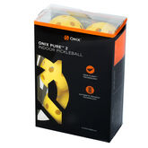 Onix Pure 2 Pickleball Ball Indoor 6 Pack - Yellow