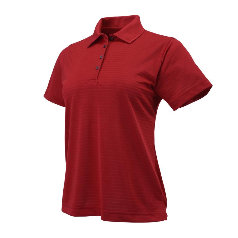 Short Sleeve Shadow Stripe Women's Polo