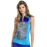 Pippin Group: Leo Print Ruffle Collar Top