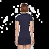 Short Sleeve Leona Trim Collar Dress Back Cut