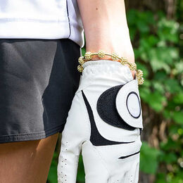 Golf Goddess Gold Golf Ball Bead Stroke Counter Bracelet