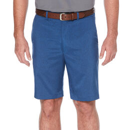 Heather Flat Front Golf Short with Active Waistband