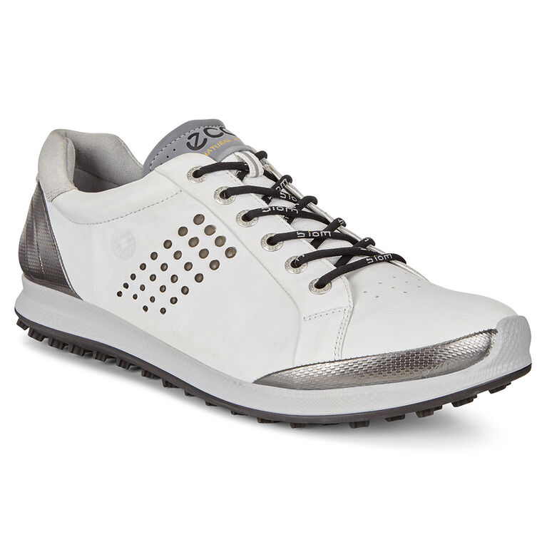 ECCO BIOM Hybrid 2 Men's Golf Shoe - White/Black