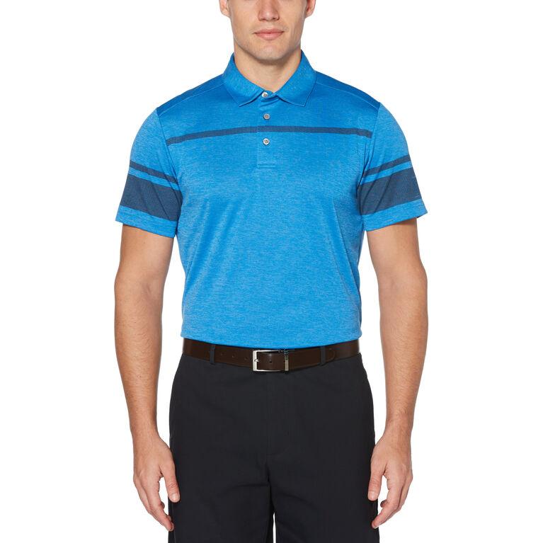 Soft Horizontal Stripe Short Sleeve Golf Polo Shirt