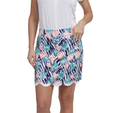 Tropical Collection: Printed Scalloped Edge Skort