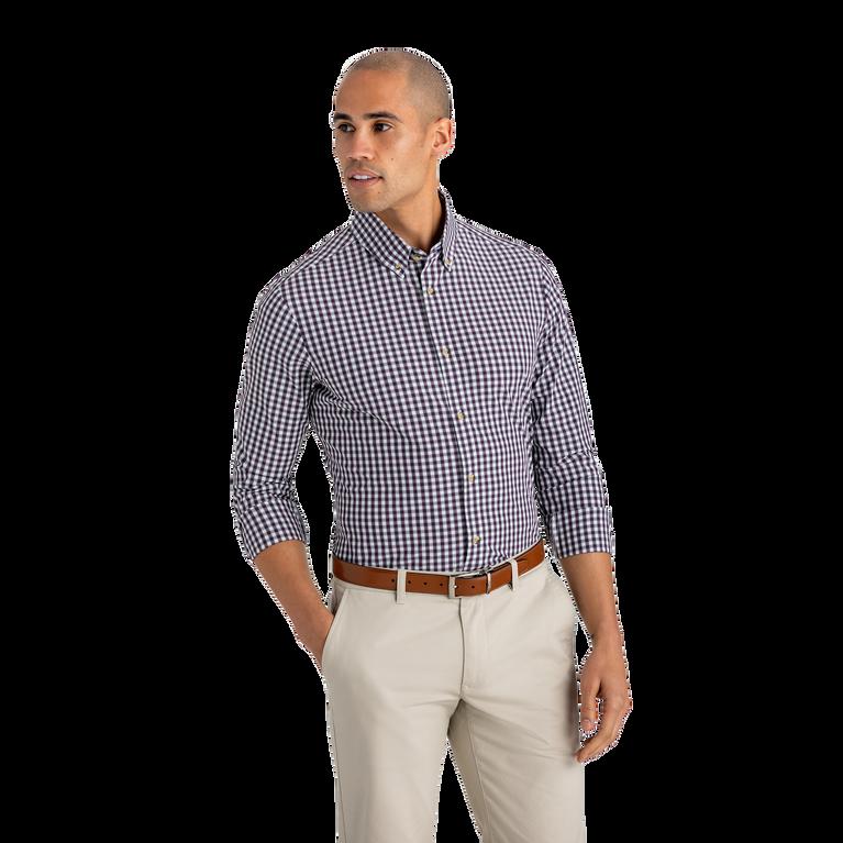 Malloy Purple Green Check Dress Shirt
