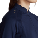 Alternate View 3 of Stretch Jersey Long Sleeve Quarter Zip Pull Over