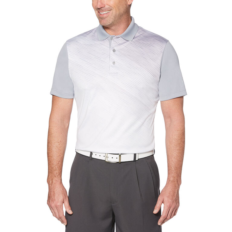 PGA TOUR Asymmetrical Print Polo