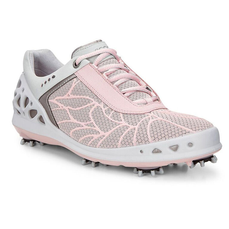 ECCO Womens Cage EVO Women's Golf Shoe - Pink/White