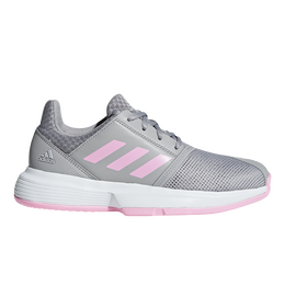 Courtjam XJ Kids Tennis Shoe - Grey/Pink