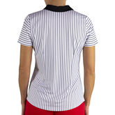 Jofit Prosecco Horizontal Stripe Zip Polo